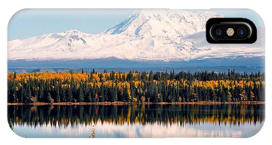 Alaska IPhone X Case featuring the photograph Autumn View Of Mt. Drum - Alaska by Juergen Weiss