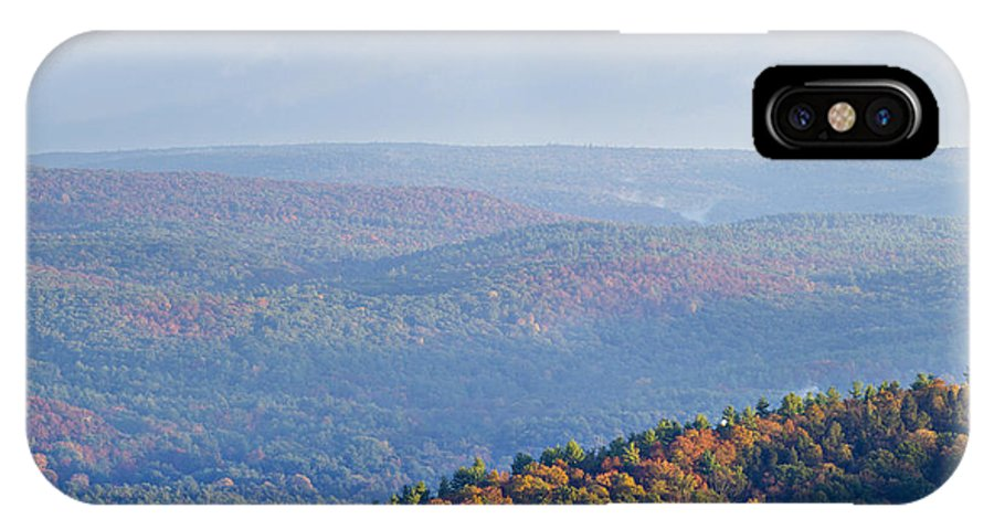 Aerial IPhone X Case featuring the photograph Autumn View by Tom Bushey