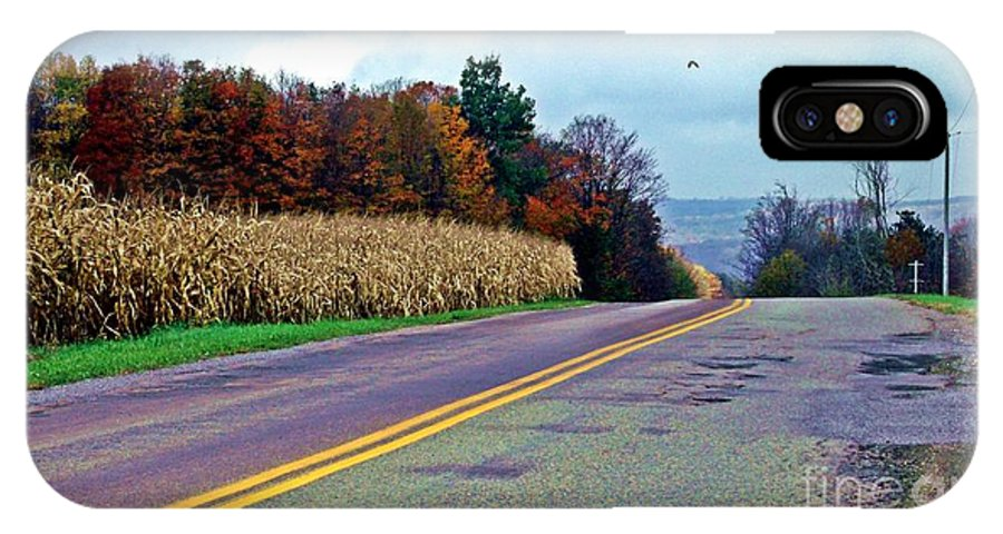 Western Ny IPhone X Case featuring the photograph Autumn Watch by Christian Mattison