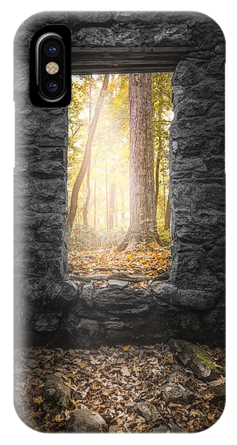Autumn IPhone X Case featuring the photograph Autumn Within Long Pond Ironworks - Historical Ruins by Gary Heller