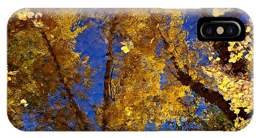 Color IPhone X Case featuring the photograph Autumns Reflections by Steven Milner