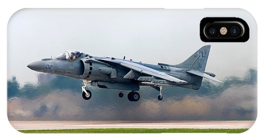 3scape IPhone X Case featuring the photograph AV-8B Harrier by Adam Romanowicz
