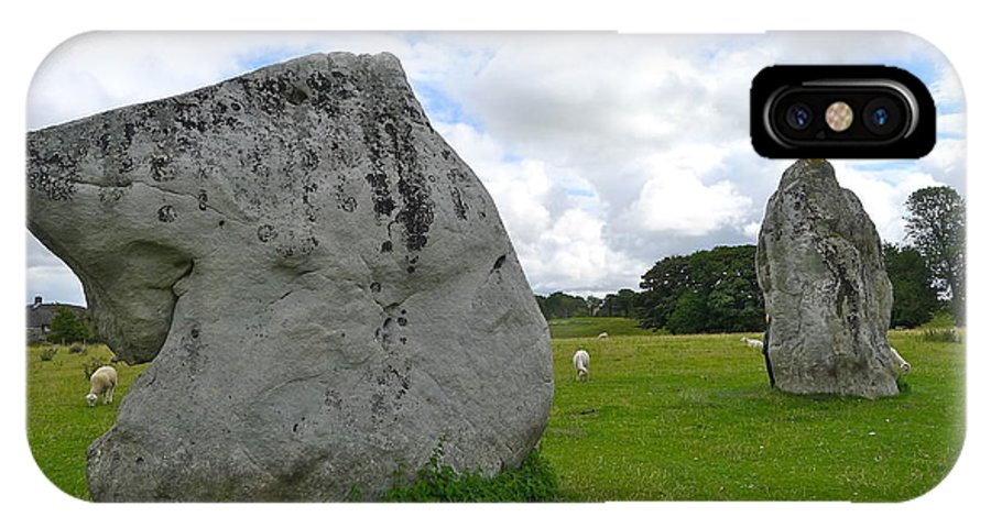 Avebury IPhone X Case featuring the photograph Avebury Megaliths by Denise Mazzocco