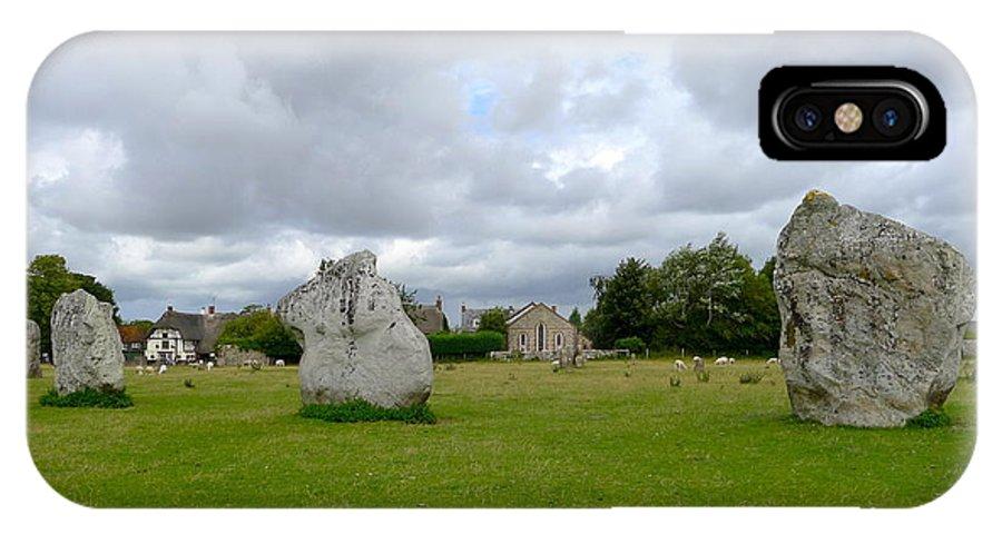 Avebury IPhone X Case featuring the photograph Avebury Stones by Denise Mazzocco