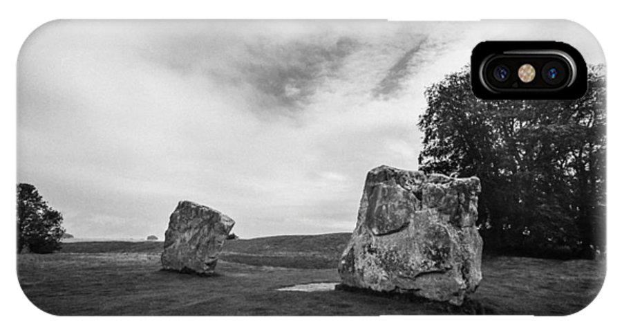 England IPhone X Case featuring the photograph Avebury Stones by Ross Henton