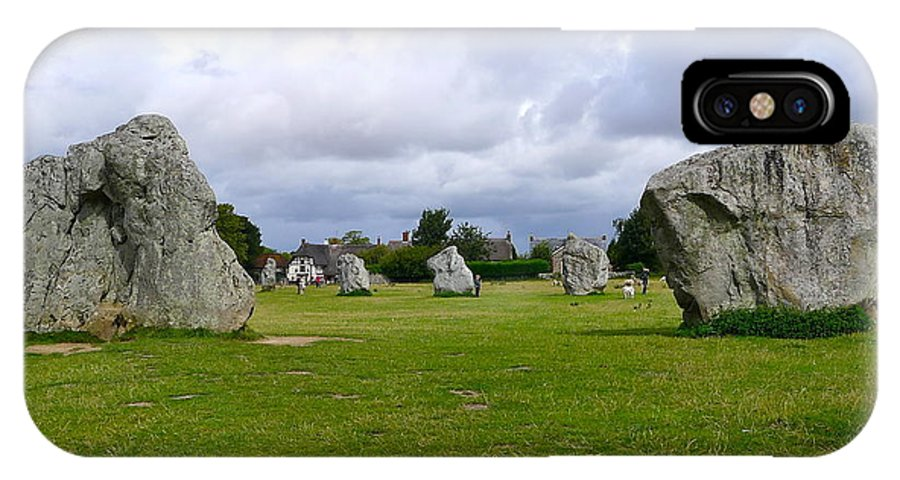 Avebury IPhone X Case featuring the photograph Avebury's Southern Entrance Stones by Denise Mazzocco