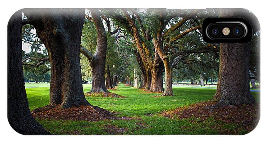 Reid Callaway Avenue Of The Oaks IPhone X Case featuring the photograph Avenue Of The Oaks On St Simons Island Ga by Reid Callaway