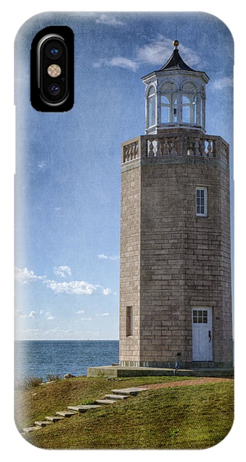 Joan Carroll IPhone X Case featuring the photograph Avery Point Lighthouse by Joan Carroll