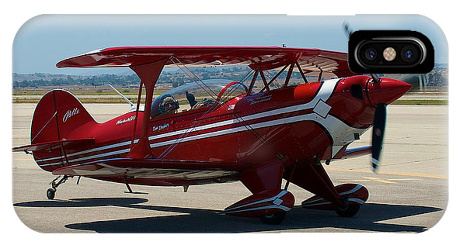 1998 Aviat Aircraft Inc Pitts S-2b Fixed Wing IPhone X Case featuring the photograph Aviat Pitts S-2b by Richard J Cassato