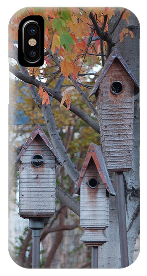 Birdhouse IPhone Case featuring the photograph Awaiting Spring by Suzanne Gaff
