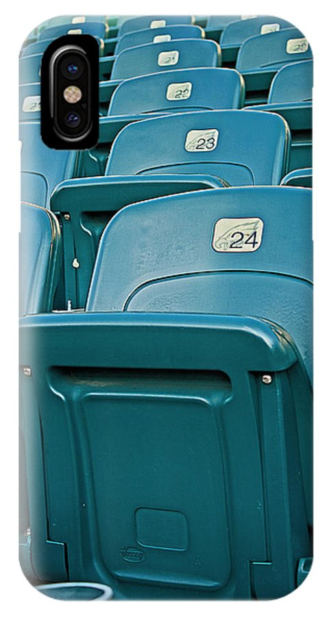 Stadium IPhone X Case featuring the photograph Awaiting The Crowds by Michael Porchik