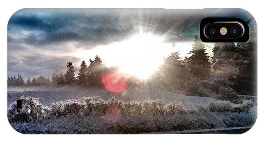 Sunrise IPhone X Case featuring the photograph Awakening by Rory Sagner