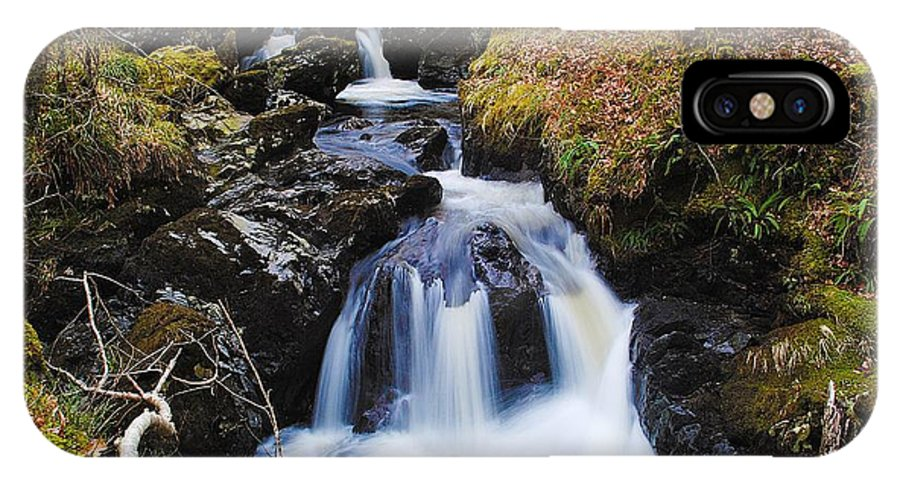 Landscape Photographs IPhone X Case featuring the photograph Awe-inspiring Waterfall by Chris Daniels