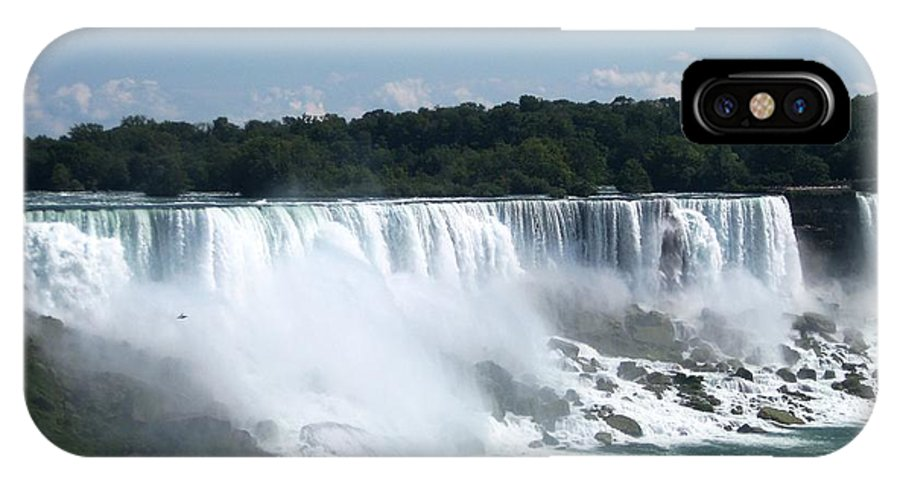 Waterfall IPhone X Case featuring the photograph Awesome by Dervent Wiltshire