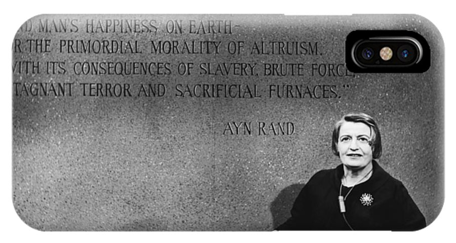 Ayn Rand IPhone X Case featuring the photograph Ayn Rand by Raimondo Borea