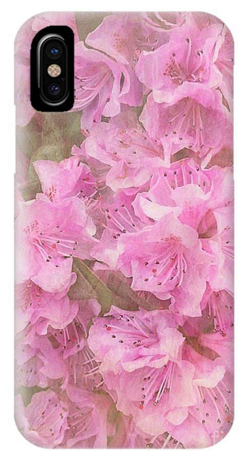 Azalea IPhone X Case featuring the photograph Azalea Textured by Arlene Carmel
