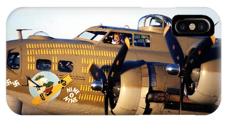 IPhone X Case featuring the photograph B-17 Nine O Nine by Richard Sherman