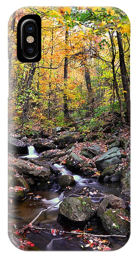 Babbling Brook IPhone X Case featuring the photograph Babbling Brook by Christopher M Stewart