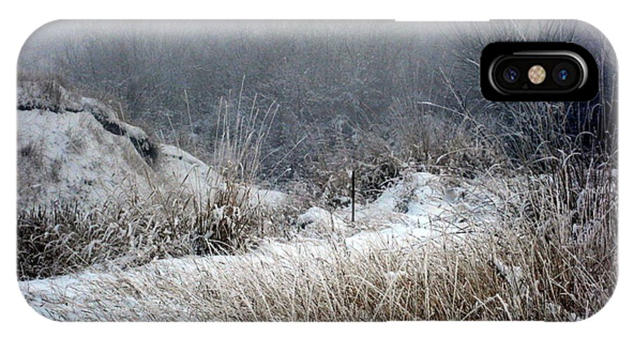 Winter IPhone X Case featuring the photograph Back Woods Winter by Kathy Bassett