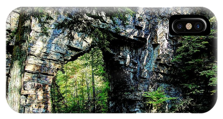Tunnels IPhone X Case featuring the photograph Backbone Rock by Heavens View Photography
