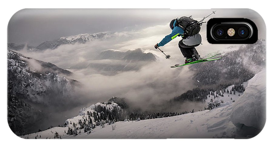 Mountains IPhone X Case featuring the photograph Backcountry Skiing by Sandi Bertoncelj
