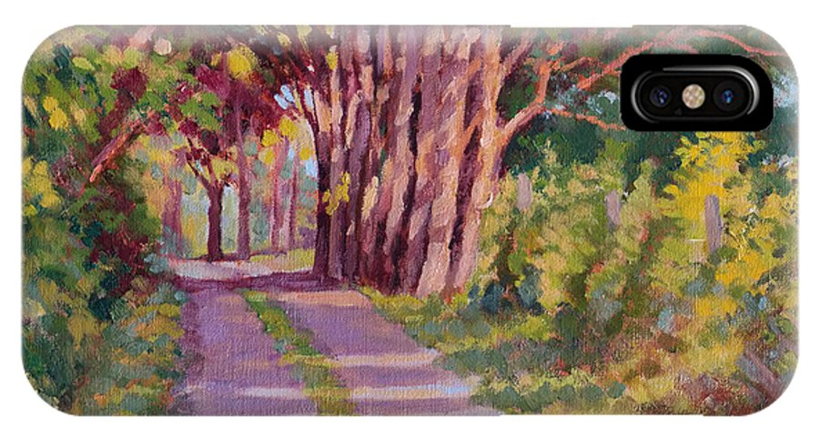 Road IPhone Case featuring the painting Backroad Canopy by Keith Burgess