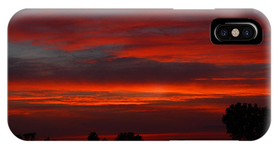 Sunset IPhone X Case featuring the photograph Backyard Beautiful by Tabitha Johnson