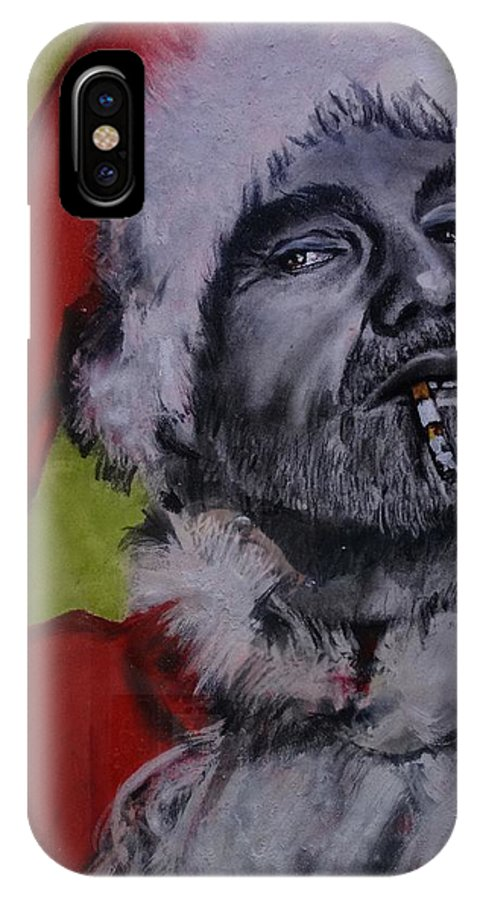 Billy Bob Thornton - Bad Santa IPhone X Case featuring the painting Bad Santa by Eric Dee