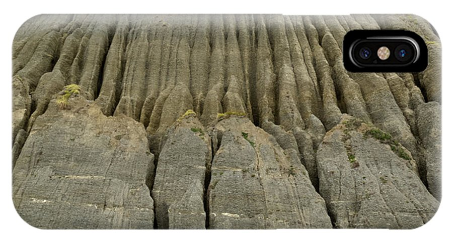 Background IPhone X Case featuring the photograph Badland Erosion Of Soft Conglomerate Sediment by Stephan Pietzko