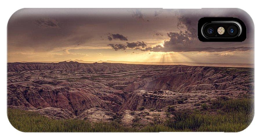 Badlands IPhone X Case featuring the photograph Badlands National Park by Ariane Moshayedi