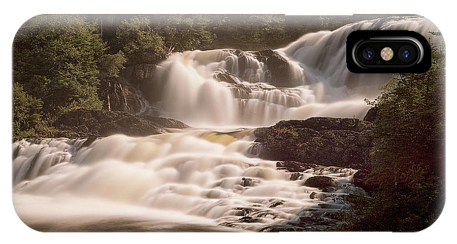 Waterfalls IPhone X Case featuring the photograph Bakers Brook Falls by Eunice Gibb