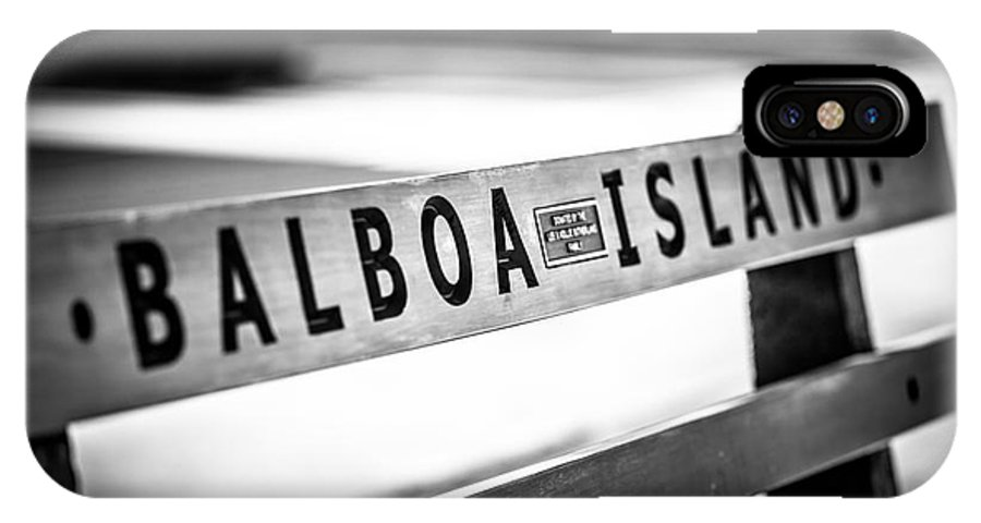 America IPhone X Case featuring the photograph Balboa Island Bench In Newport Beach California by Paul Velgos