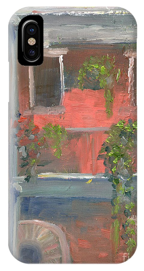 New Orleans IPhone X Case featuring the painting Balcony I by Lilibeth Andre