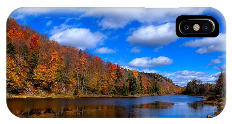 Adirondack's IPhone X Case featuring the photograph Bald Mountain Pond In Autumn by David Patterson