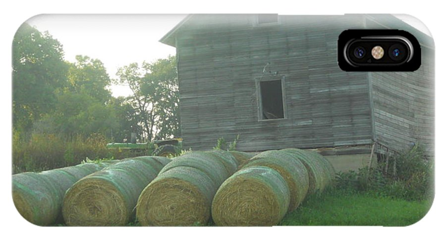 Hay IPhone X Case featuring the photograph Baling Out by Coleen Harty
