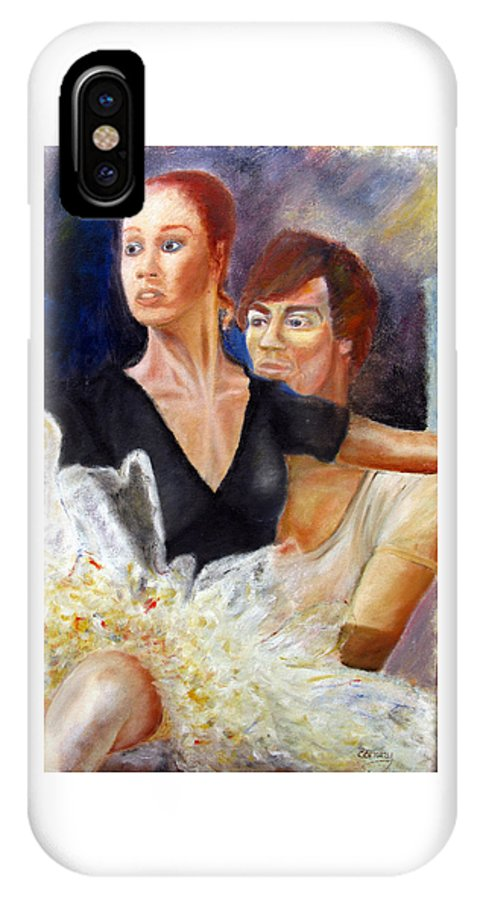 Ballet IPhone X Case featuring the painting Ballet Dancers rehearse for La Bayadere by Tom Conway