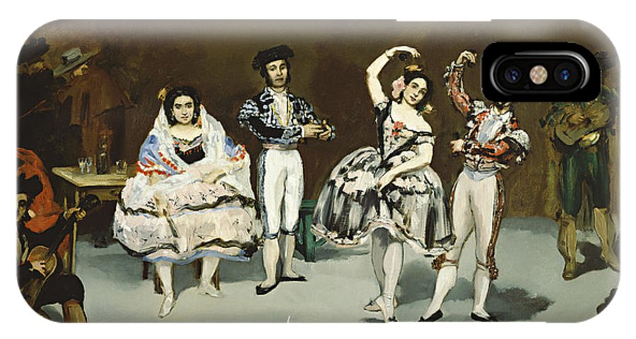 Edouard Manet IPhone X Case featuring the painting Ballet Espagnol by Celestial Images
