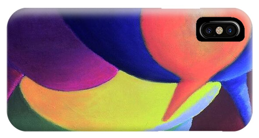 Balloon IPhone X Case featuring the painting Balloons by Steven Casey