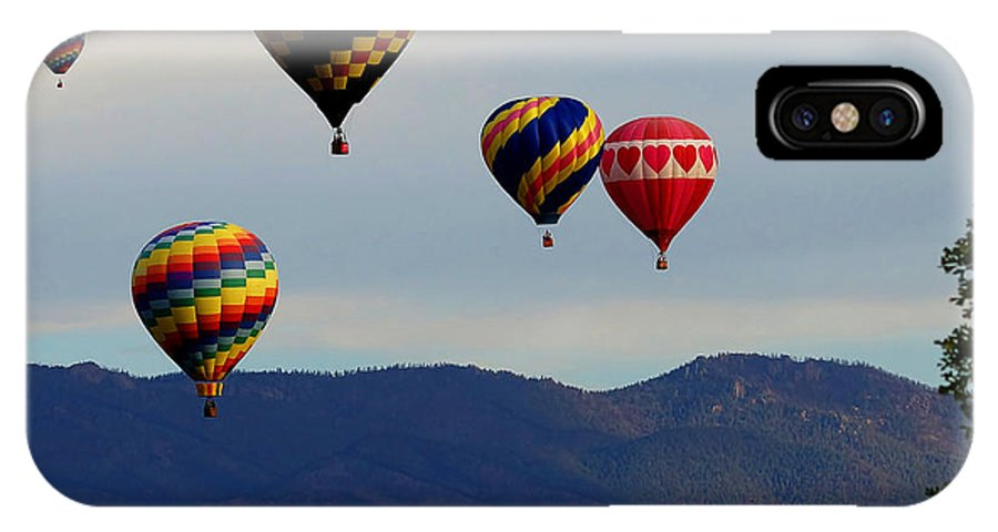 Colorado IPhone X Case featuring the photograph Balloon Rise by Ernie Echols