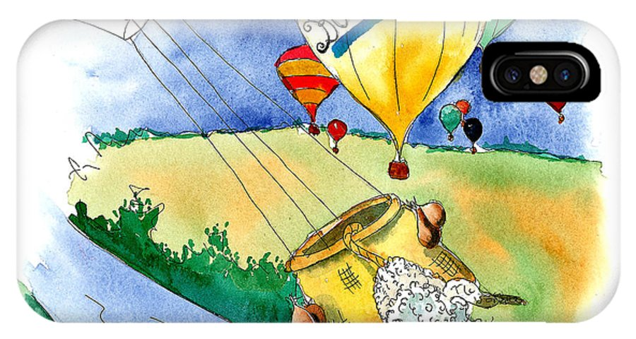 Art For Kids IPhone Case featuring the mixed media Ballooning In France by Leah Wiedemer