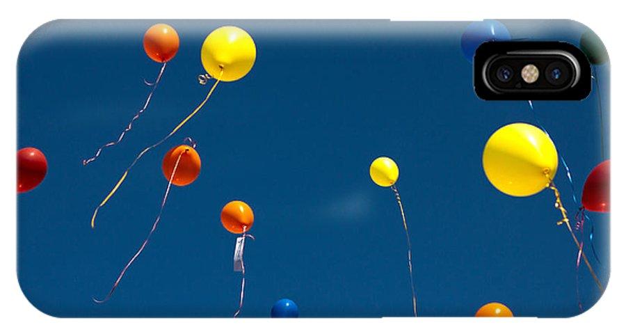 Balloon IPhone X Case featuring the photograph Balloons by Daniel Csoka