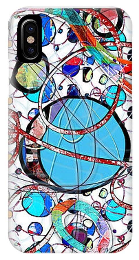 Abstract IPhone X Case featuring the digital art Balloons In Heaven by Gabrielle Schertz