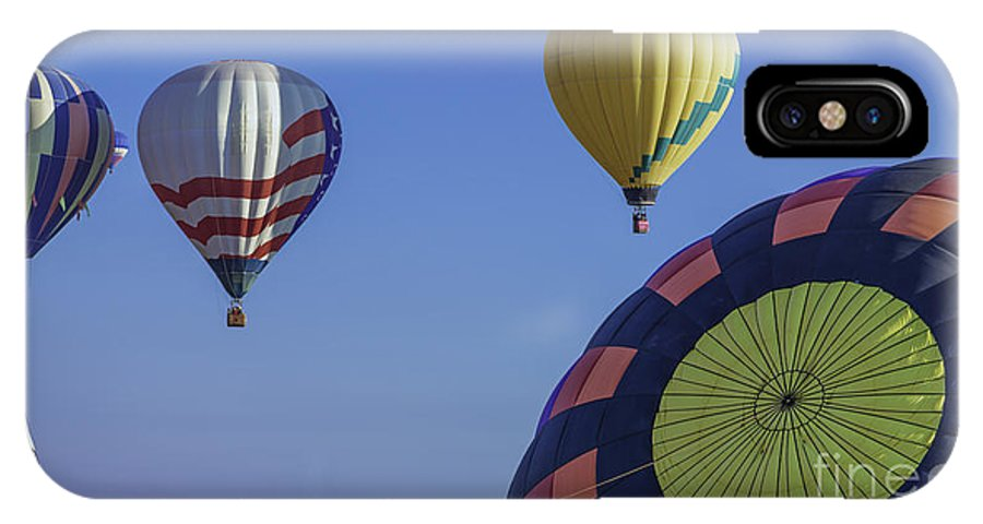 Hot Air Balloon IPhone X / XS Case featuring the photograph Balloons by Michael Goodell