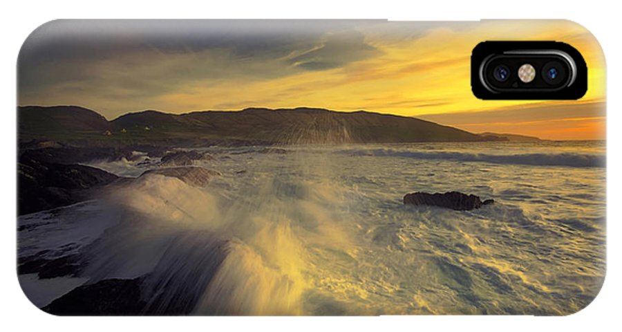 Seascape IPhone X Case featuring the photograph Ballydonegan Bay by Michael Walsh