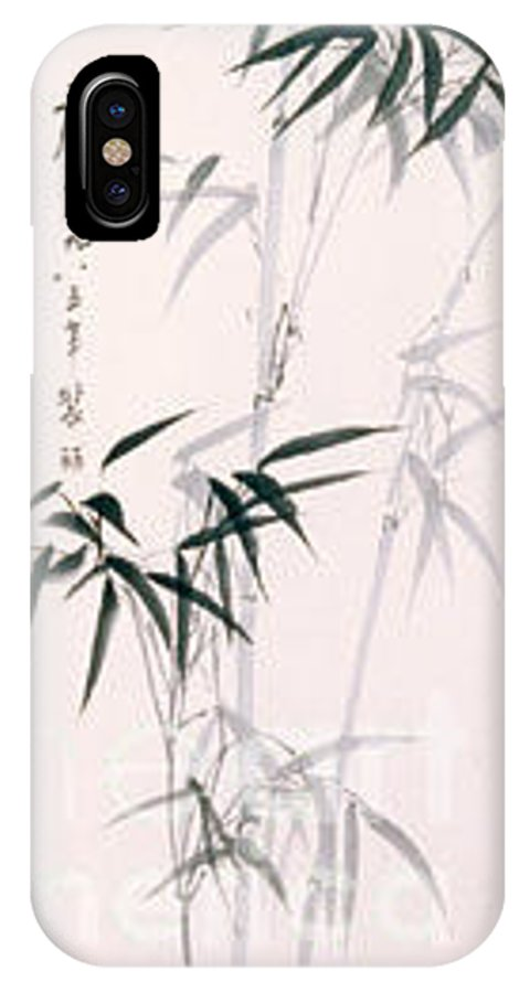 Bamboo IPhone X Case featuring the painting Bamboo by Fereshteh Stoecklein