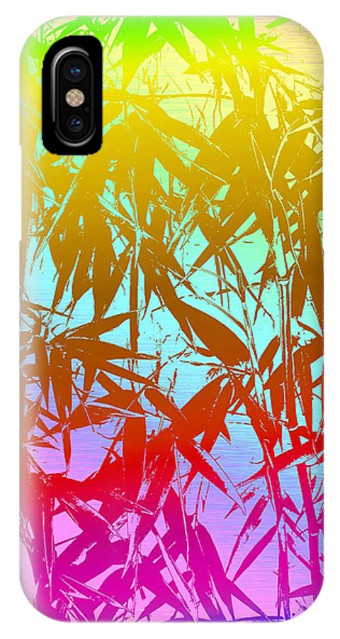 Bamboo IPhone X Case featuring the digital art Bamboo Study 7 by Tim Allen