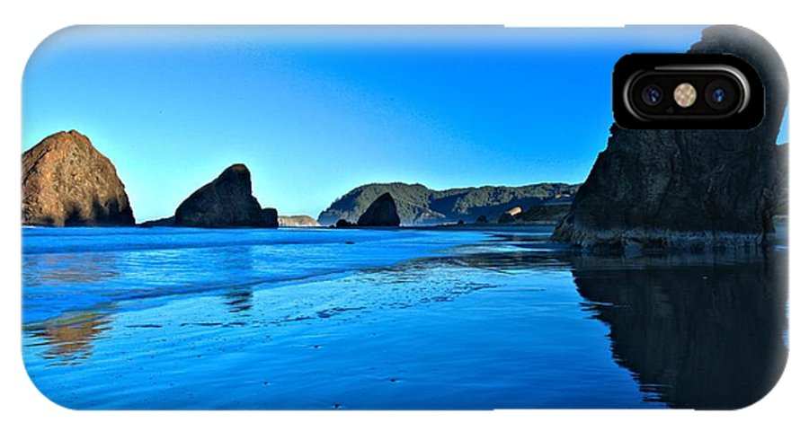 Bandon Beach IPhone X Case featuring the photograph Bandon Blue by Adam Jewell