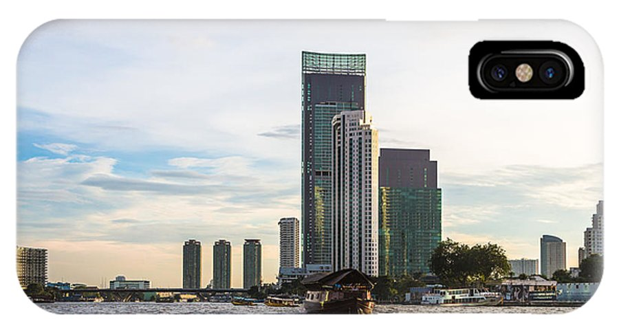 Chao Praya IPhone X Case featuring the photograph Bangkok Towers by Didier Marti