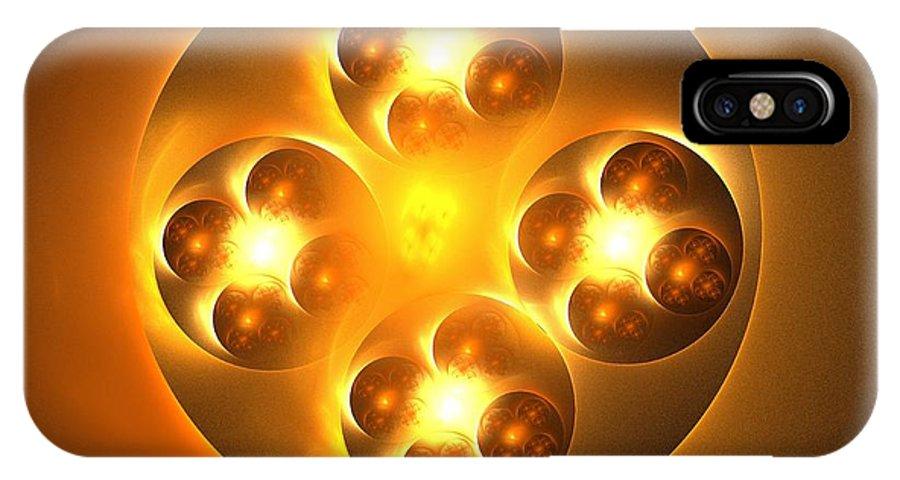 Apophysis IPhone X Case featuring the digital art Baoding Balls by Kim Sy Ok