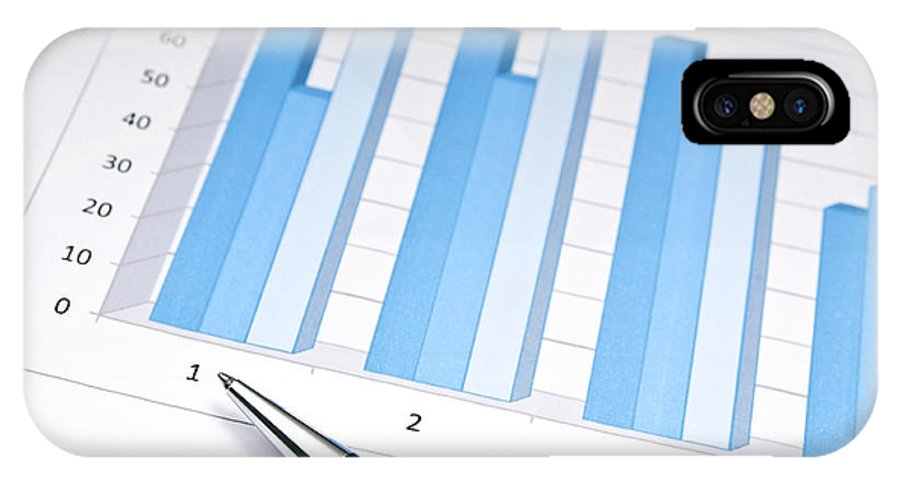 Accounting IPhone X Case featuring the photograph Bar Chart by Tim Hester